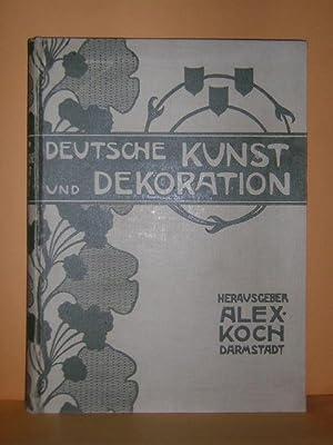 Deutsche Kunst und Dekoration. Illustrierte Monatshefte zur: Koch, Alexander