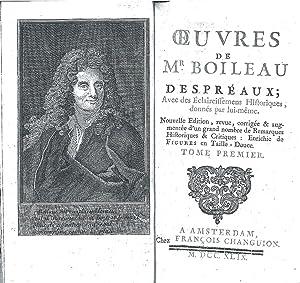 Oeuvres. Avec des Éclaircissements Historiques, données par: Boileau Despréaux, Nicolas