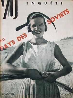 VU. Enquéte Au Pays Des Soviets, 3 Ième année. No. 192. 18 novembre 1931.: ...