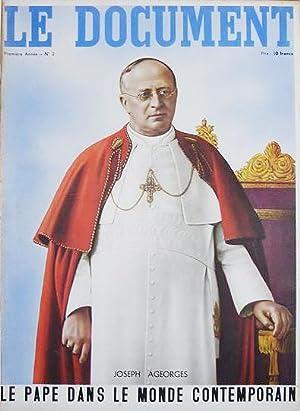 Le Document. Première Année, no. 2. Le Pape dans le Monde Contemporain, Ageorges, ...
