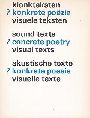 klankteksten ? konkrete poëzie visuele teksten –: de Wilde, Edu