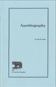 Autobiography. A Great Bear Pamphlet: Antin, David