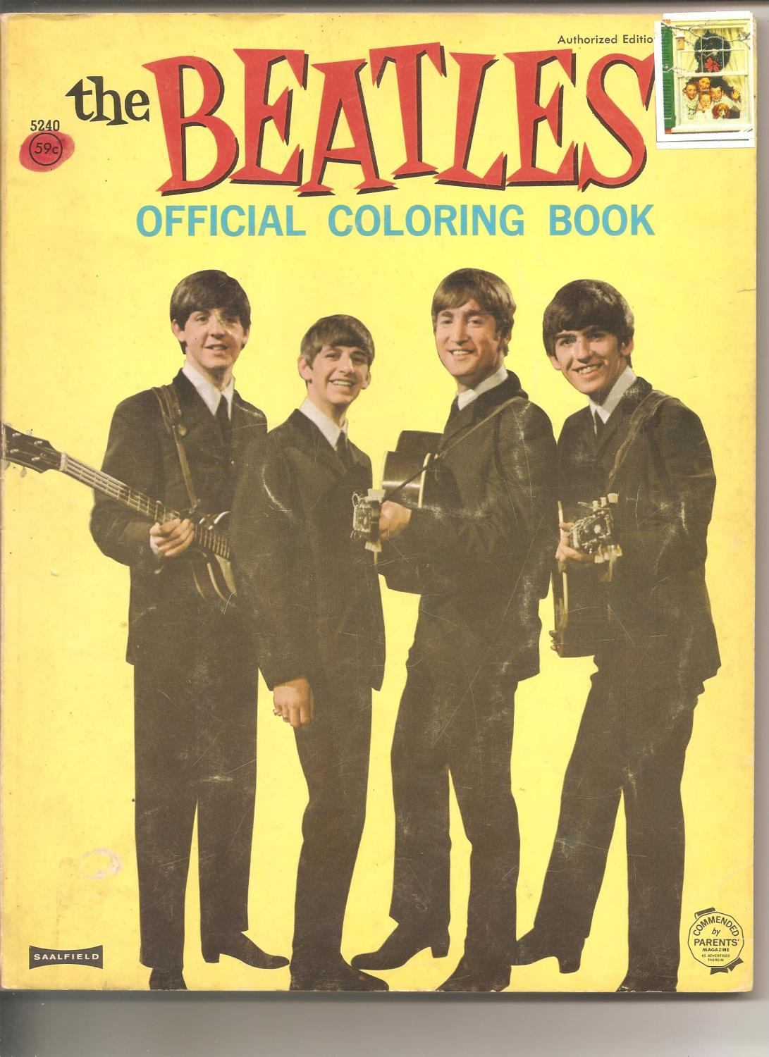 The Beatles Official Coloring Book: Peerless Manufacturing Co. Soft ...