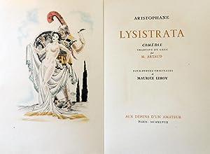 Lysistrata. Eaux-fortes originales de Maurice Leroy: Aristophane [M. Arthaud