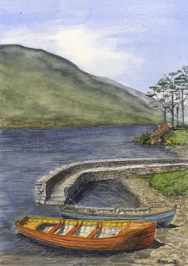 S.M. Currie - Contemporary Watercolour, Doo Lough Co. Mayo Ireland S.M. Currie