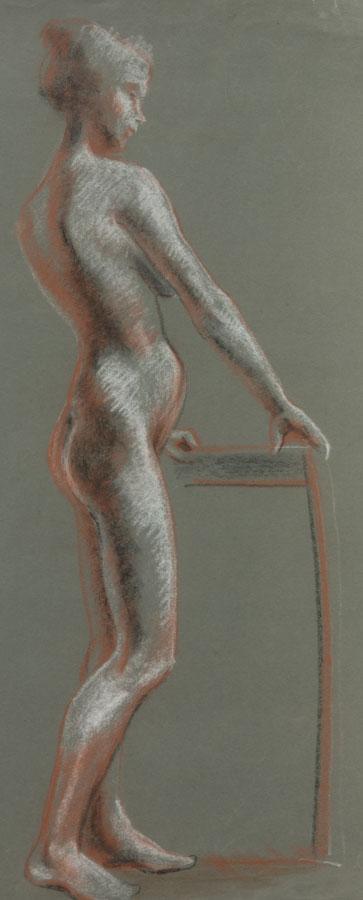Contemporary Pastel - Nude Study