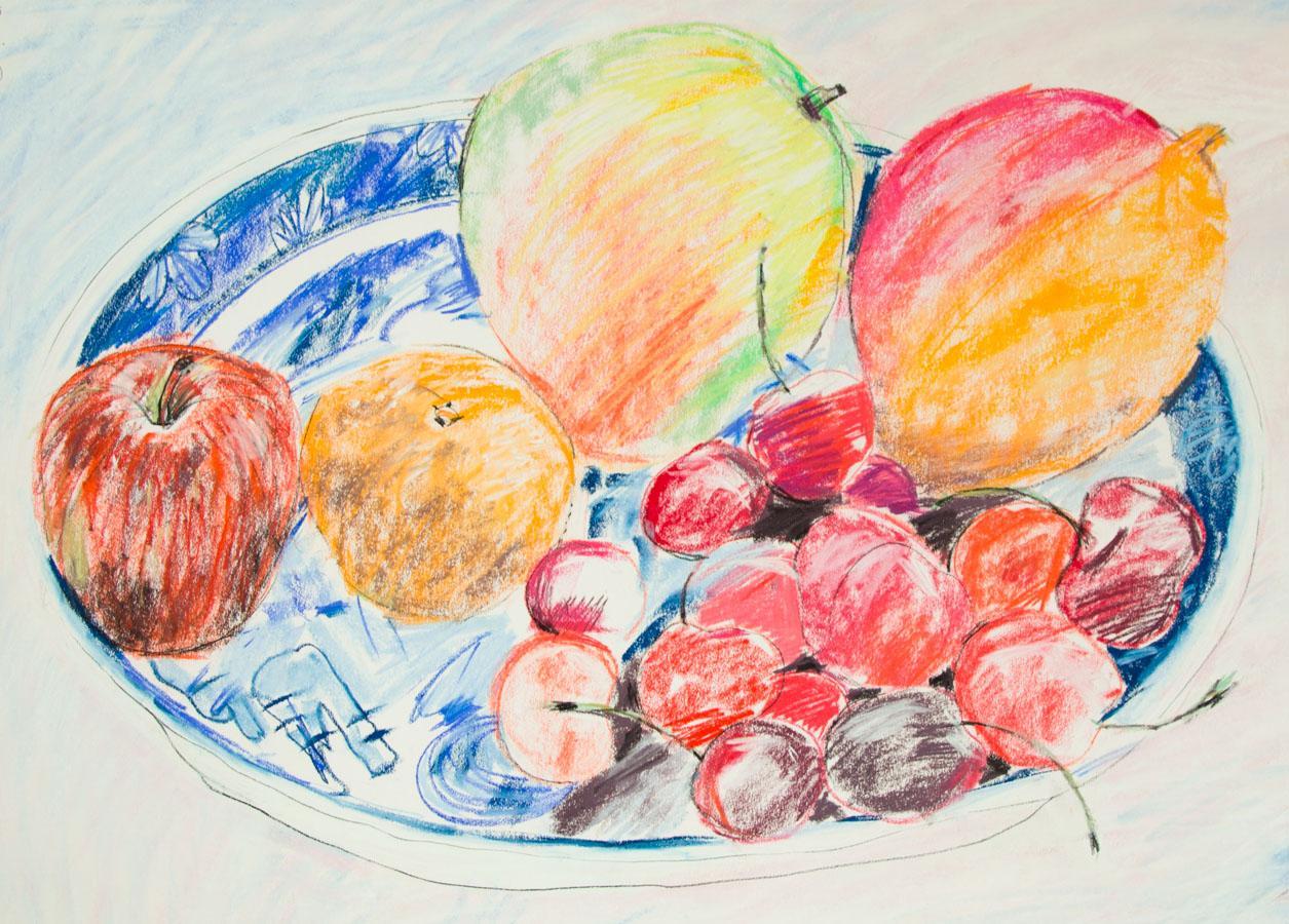 Brian Rusher - 2001 Pastel, Still Life of Fruit Brian Rusher