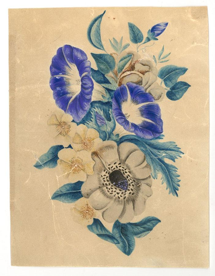 Still Pictures Are All Very Fine And >> Very Fine Circa 1851 Watercolour Floral Still Life Circa 1851