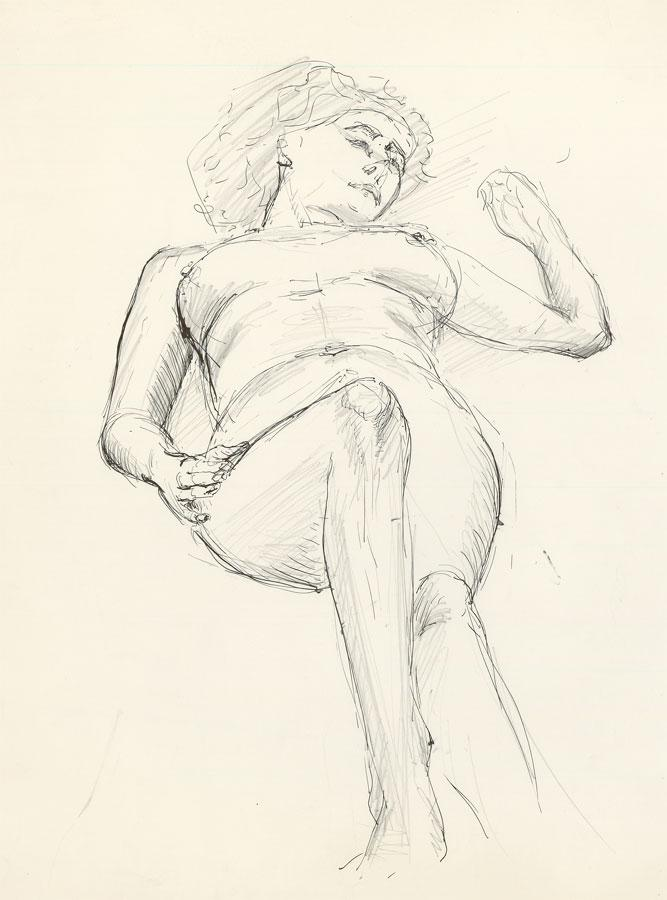 Ronald Birch - Set of Four circa 1970s Pen and Ink Drawings, Nudes. Ronald Birch