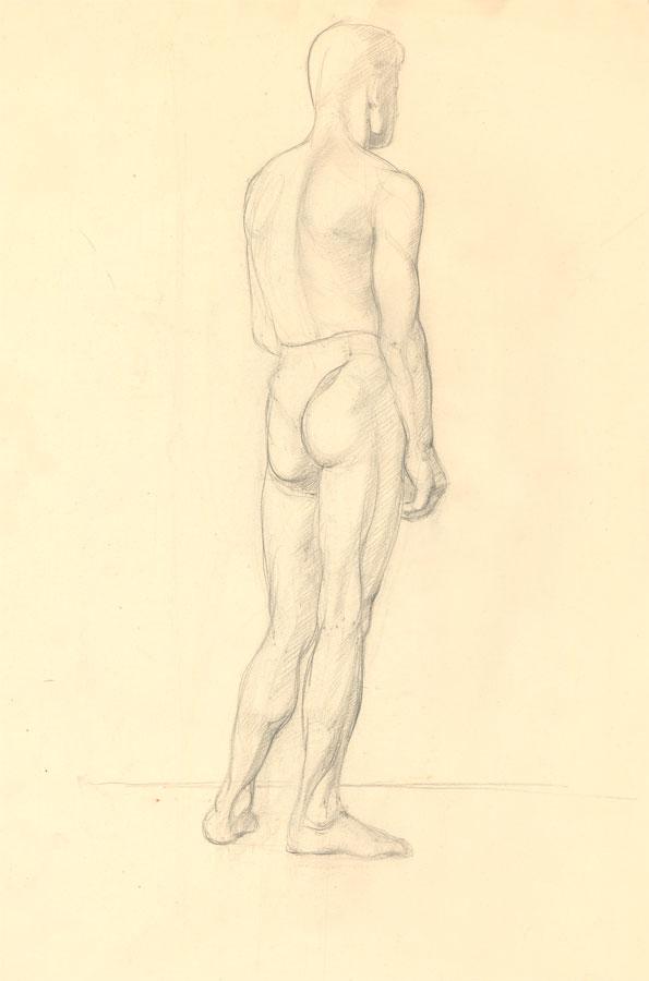 Jean Dryden Alexander (1911-1994)- Double Sided 1931 Graphite. Jean Dryden Alexander (1911-1994)