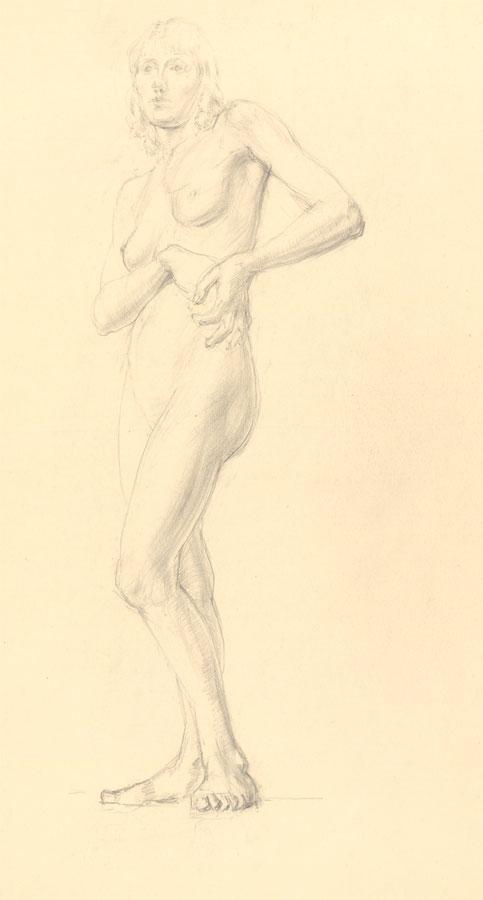 Jean Dryden Alexander (1911-1994) - 1932 Graphite Drawing, Full. Jean Dryden Alexander (1911-1994)