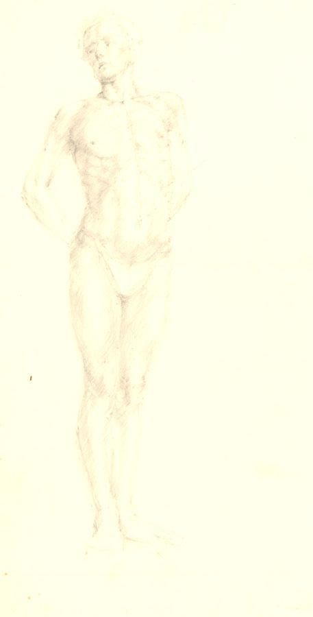Jean Dryden Alexander (1911-1994) - 1931 Graphite Drawing, Male. Jean Dryden Alexander (1911-1994)