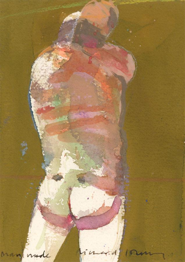 Richard J.S. Young - Signed Contemporary Watercolour, Male Nude Richard J.S. Young Softcover