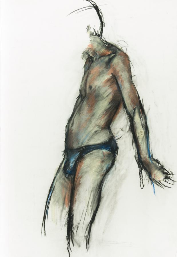Brian Liddle - Contemporary Pastel, Male Nude Study Brian Liddle