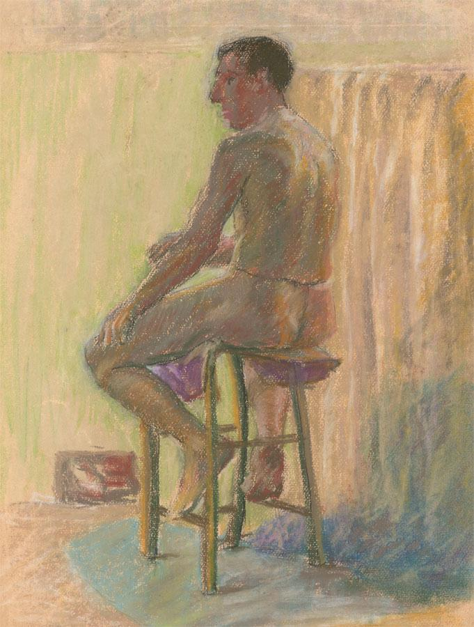 E.W. Parsonage - Two 20th Century Pastels, Studies of a Male Nude E.W. Parsonage