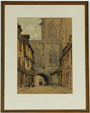 George Henry Downing (1878-1940) - Signed Watercolour, Continental Street Scene