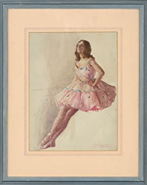 B.C. Jackson - Signed and Framed 20th Century Watercolour, The Haughty Ballerina
