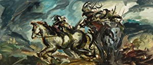 Contemporary Acrylic - Soldiers in Battle on Horseback