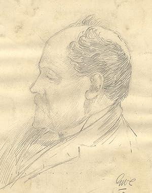 George William Collins (1863-1949) - Pair of Graphite Drawing, Portrait Studies: George William ...