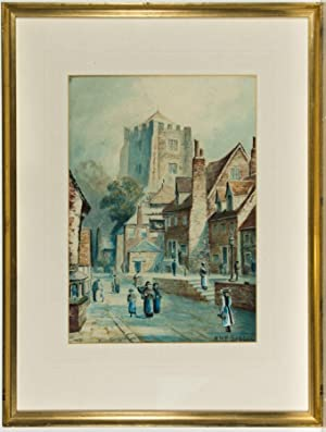 R.H.F. Seddon - Pair of Signed 1915 Watercolours, Street Scenes