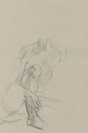 1924 Graphite Drawing - Seated Figure Study