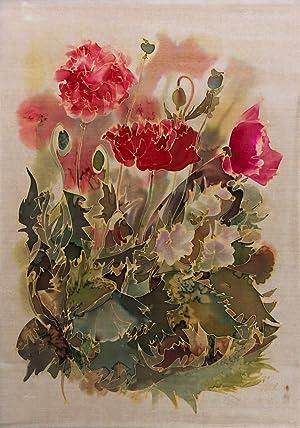 Contemporary Silkscreen - Floral Silk Painting