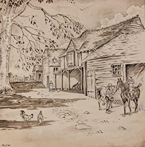 Richard James Williams - 1910 Pen and Ink Drawing, Swan Inn