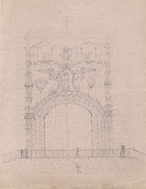 1837 Graphite Drawing - The Cathedral in Malaga