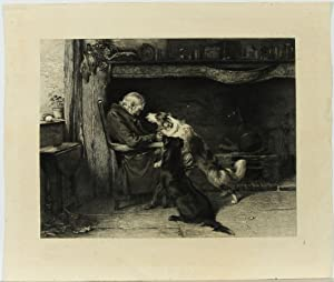 After Briton Rivier - Early 20th Century Etching, The Long Sleep