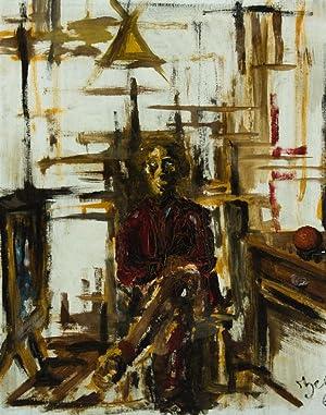 H.C. Mcdowell - 1966 Oil, Seated Figure: H.C. Mcdowell