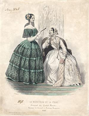 A. Borilly - 1845 Etching, Le Moniteur de la Mode