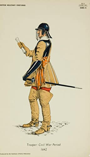 20th Century Lithograph - British Army Uniforms: Trooper: Civil War Period 1642
