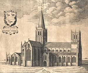 Wenceslaus Hollar - 17th Century Engraving, Hereford Cathedral