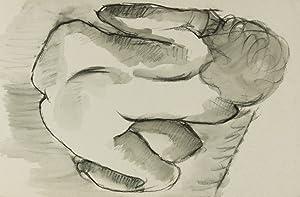 1986 Charcoal Drawing - Sleeping Nude