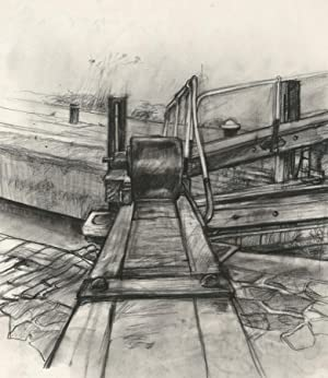Brian Liddle - Contemporary Charcoal Drawing, Study of a Canal Lock