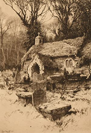 Percy Robertson A.R.E (1868-1934) Signed Original Etching, Old Church Bonchurch