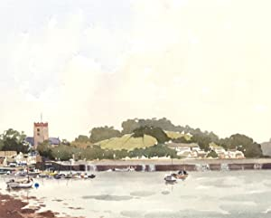 John Godfrey - Signed 1997 Watercolour, Harbourside: John Godfrey