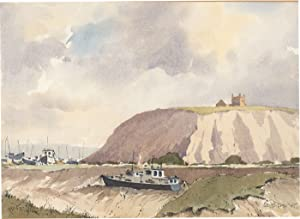 John Godfrey - Signed 1995 Watercolour, Coastal: John Godfrey