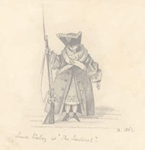 1861 Graphite Drawing - Louise Keeley as