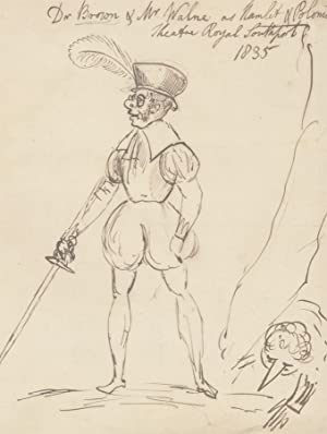 1835 Pen and Ink Drawing - Theatrical Costume Design