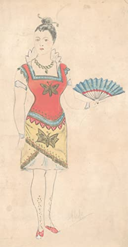 Flip - Early 20th Century Watercolour, Japanese Style Costume Design
