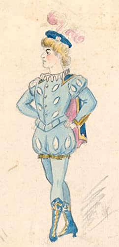 Flip - Early 20th Century Watercolour, Male Courtly Costume Design