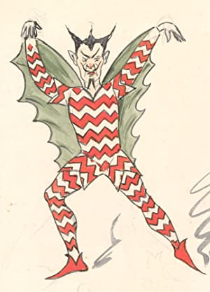 Flip - Early 20th Century Watercolour, Demon Costume Design