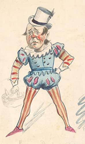 Flip - Early 20th Century Watercolour, Jester Costume Design