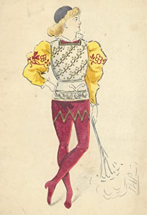 Flip - Early 20th Century Watercolour, Courtly Costume Design