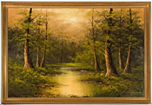Cantrell - Large Framed Contemporary Oil, Wooded Scene