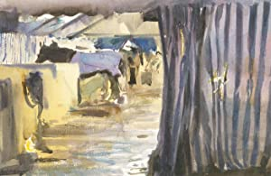 Howard J. Morgan (b.1949) - Signed Contemporary Watercolour, Cattle in Austin