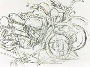 Brian Liddle - Contemporary Charcoal Drawing, Motorcycles