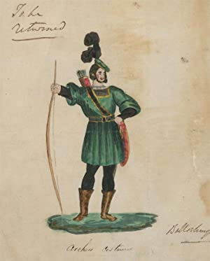 19th Century Watercolour - Archer's Costume
