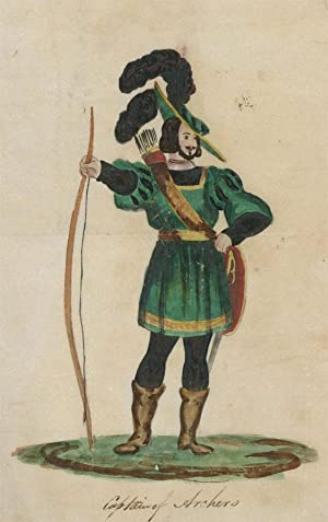 19th Century Watercolour - Captain of Archers